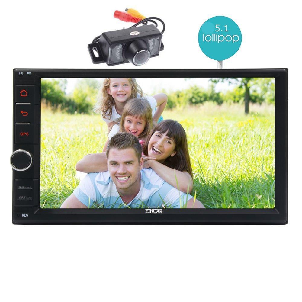 Sale 2Din Head Unit Android 5.1.1 GPS radio Car Stereo Auto Radio Audio 1080P Video Player Wifi FM Steering Wheel Control+rear Camera 0