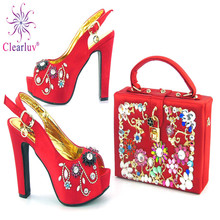 Clearluv Matching Italian Shoe and Bag Set