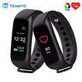 New L30T RGB Smart Fitness Bracelet Timer Bluetooth Smartwatch Band Heart Rate Fitness Tracker For IOS Android pk miband 2 id107