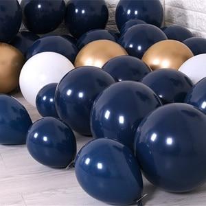 Image 2 - 30 قطعة بالونات في منتصف الليل الأزرق الداكن بالونات صغيرة صغيرة اللاتكس بالونات الباستيل العازبة حفلة عيد ميلاد استحمام الطفل الديكورات