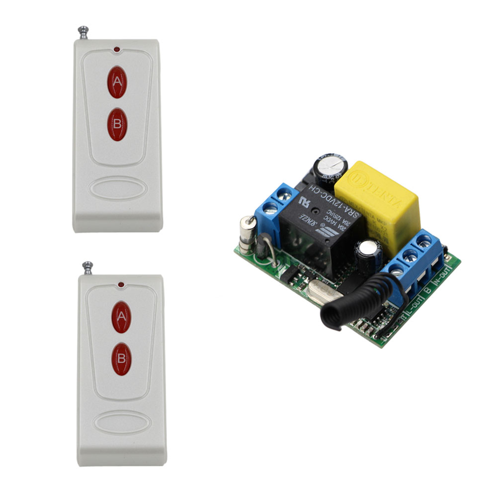 AC 220V 1CH 1CH 10A Relay Wireless Remote Control Switch Receiver Remote Light Switch Transmitter Momentary Toggle Latched dc12v 2ch 3transmitter 1receiver remote control light on off switch 315 433mhz momentary toggle latched 2 relay indicator