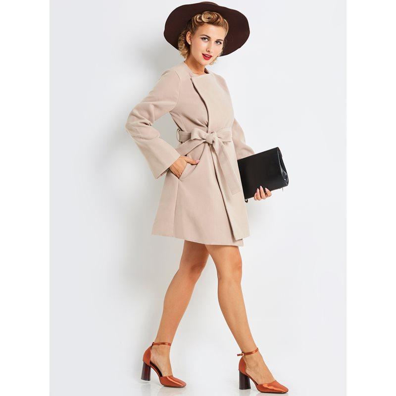 Apricot Lady Décontracté Vintage Laine Femmes Lacets Abricot Mode Rétro Ceinture Solide À De Manteaux Preppy Office Élégant Printemps Femelle 1q1pUzWn