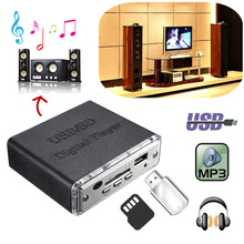 12 V Mini Moto Auto Car Stereo Amplificador Amp LED USB/SD Reproductor Digital de MP3 USB SD MMC de Entrada con Mando a distancia