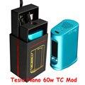 Auténtico Cigarrillo Electrónico Tesla Mod Kits Nano 7-60 W Vatios Cuadro Mod con Una Función de Control de Temperatura TC 3600 mah de La Batería AA