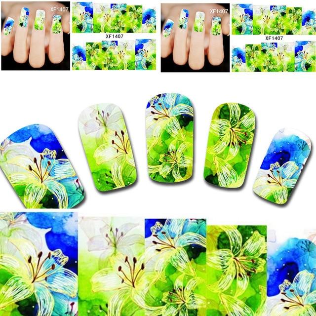 ₪2018 corrieron manicura Clavos nail sticker 10 Hoja watermark3d ...