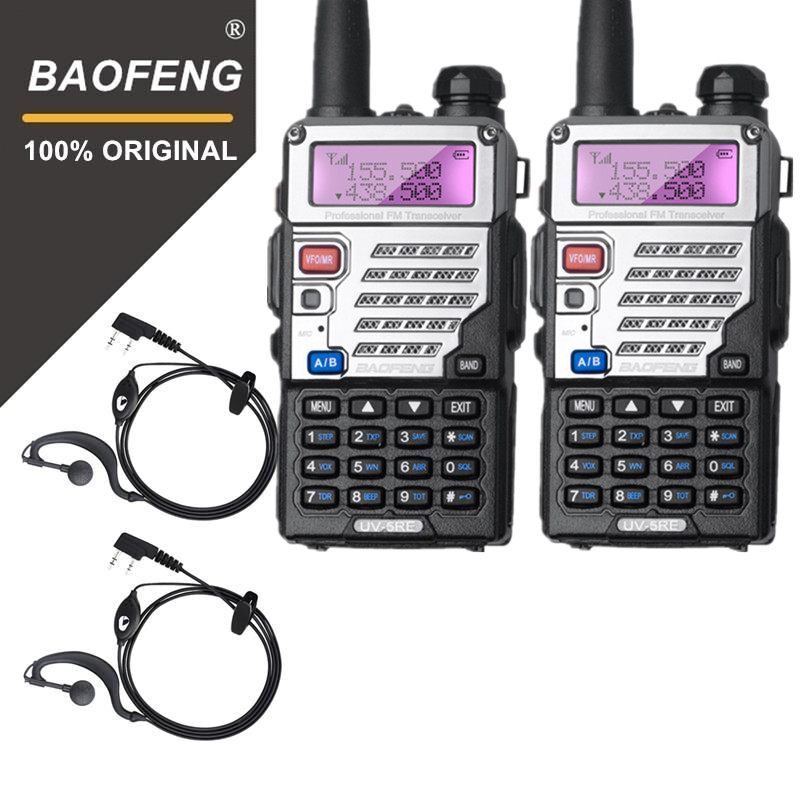 2 PCS BaoFeng UV-5RE Talkie Walkie Dual Band Two Way Radio Pofung Portable Jambon Émetteur-Récepteur Radio Baofeng Poche Talkie Walkie