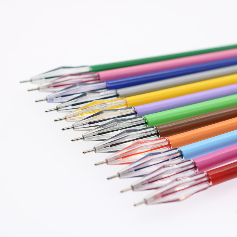 Wholesale Office Writing Mark New 12 Color Pencil Gel Pen Filling Student Art Drawing Spare 12
