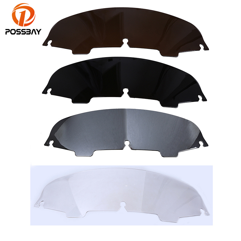 POSSBAY 5 Motorcycle Windscreens Wind Deflectors Windshield Windscherm Scooter For Harley Touring Electra Glide 1996-2013 велосипед electra speed 5 2016
