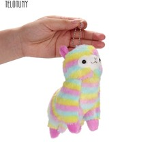 TELOTUNY 13CM stuffed baby fashion filled dolls Hanging ornament Colorful Alpaca Soft Plush Toy Gift Z0201(China)