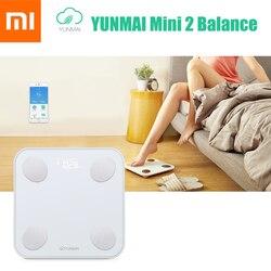 Originale Xiaomi YUNMAI Mini 2 Equilibrio Del Corpo Intelligente di Peso Grasso Bilancia s Salute Digital Ponderazione Bilancia Inglese APP di Controllo