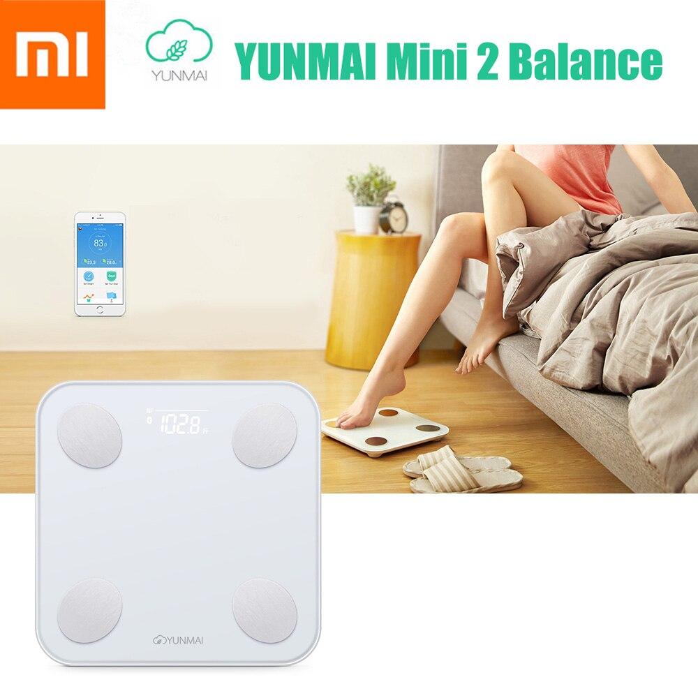 Xiaomi YUNMAI Mini 2 Balance Smart Body Fat вес детские весы здоровье Цифровой Вес ing весы английский приложение управление