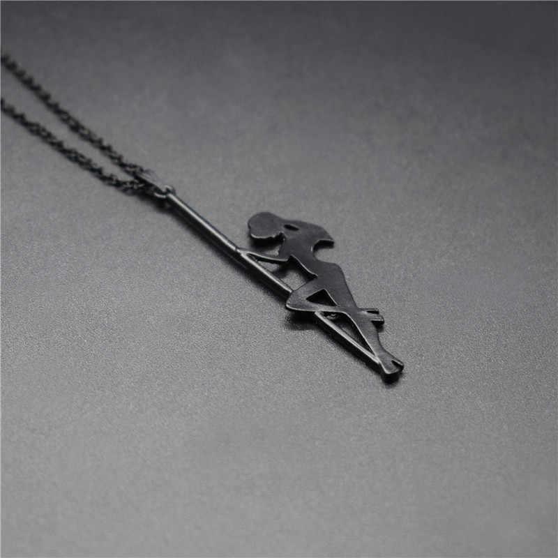 Elfin à la mode pôle danseur pendentif colliers bande danseuse Silhouette cadeau pour Bachelorette fête femmes colliers bijoux