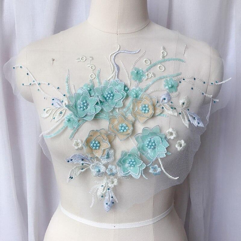 1 шт. искусственный жемчуг 3D, Свадебное кружево, цветочный декор, декоративные украшения