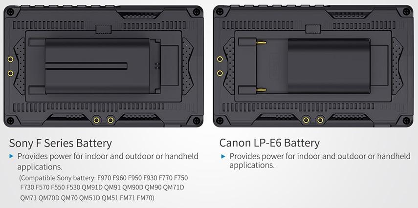 FEELWORLD S55 5.5 cal DSLR ekran aparatu 4K HDMI LCD IPS HD 1280x720 wyświetlacz monitor zewnętrzny 8.4V DC wyjście dla Canon Sony Nikon 21