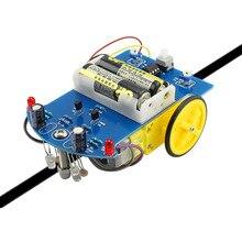 Elecrow D2-1 Coche Robot Coche Inteligente BRICOLAJE Unassembly Mejor Calidad de Seguimiento Inteligente