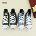 Koovan New Year Promotion 2017 Children Boys Girls Canvas Jean Shoes Children Fashion Sneakers Kids Shoes Denim Boots 24-30 KY08