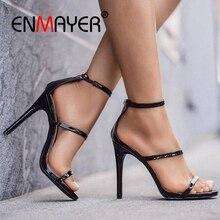ENMAYER Casual  Zip Sandalias De Verano Para Mujer Women Shoes Sandalia Feminina Gladiator Sandals Size 34-43 ZYL2606