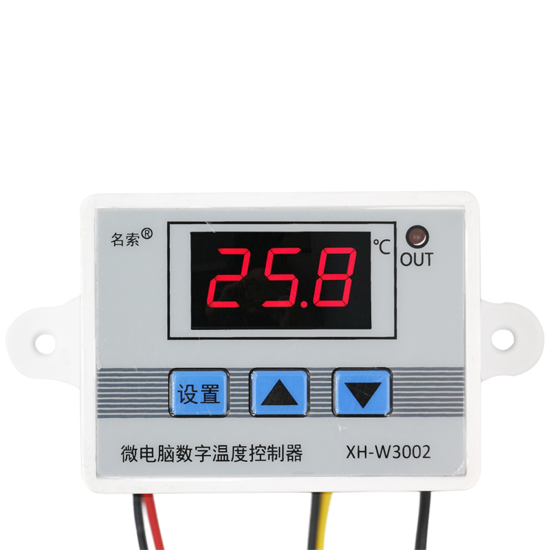 10pcs/lot W3002 220V 12V 24V Digital LED Temperature Controller 10A thermometer  Thermostat Control Switch with Probe sensor 7 24h programmable adjustable thermostat temperature control switch with child lock