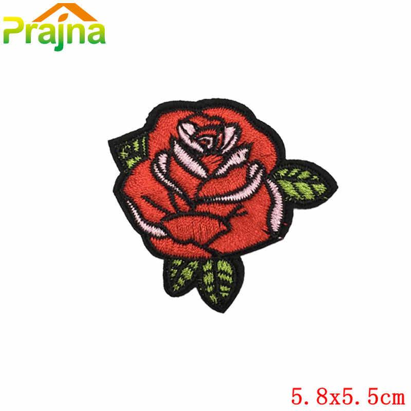 Новая нашивка единорога в виде фламинго, Череп, розы, Дешевые Вышитые милые нашивки для одежды, железные Мультяшные хиппи, ручные значки-наклейки A