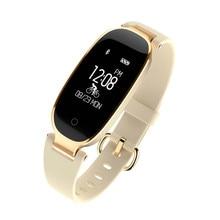 Купить с кэшбэком Bluetooth Waterproof S3 Smart Watch Fashion Women Ladies Heart Rate Monitor Fitness Tracker Smartwatch 2018 For Android IOS