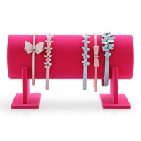 PVC Velvet Hair Jewelry Display Headband Display Rack Headwear Showing Stand Hair Accessories Holder 1PC
