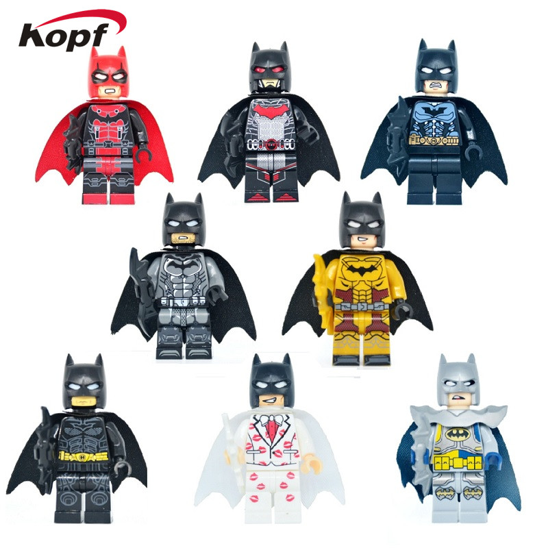 Single Sale Super Heroes Red lantern Kiss Vacation Joker Tartan Batman Injustice Movie Building Blocks Children Gift Toys KF6013 building blocks super heroes back to the future doc brown and marty mcfly with skateboard wolverine toys for children gift kf197