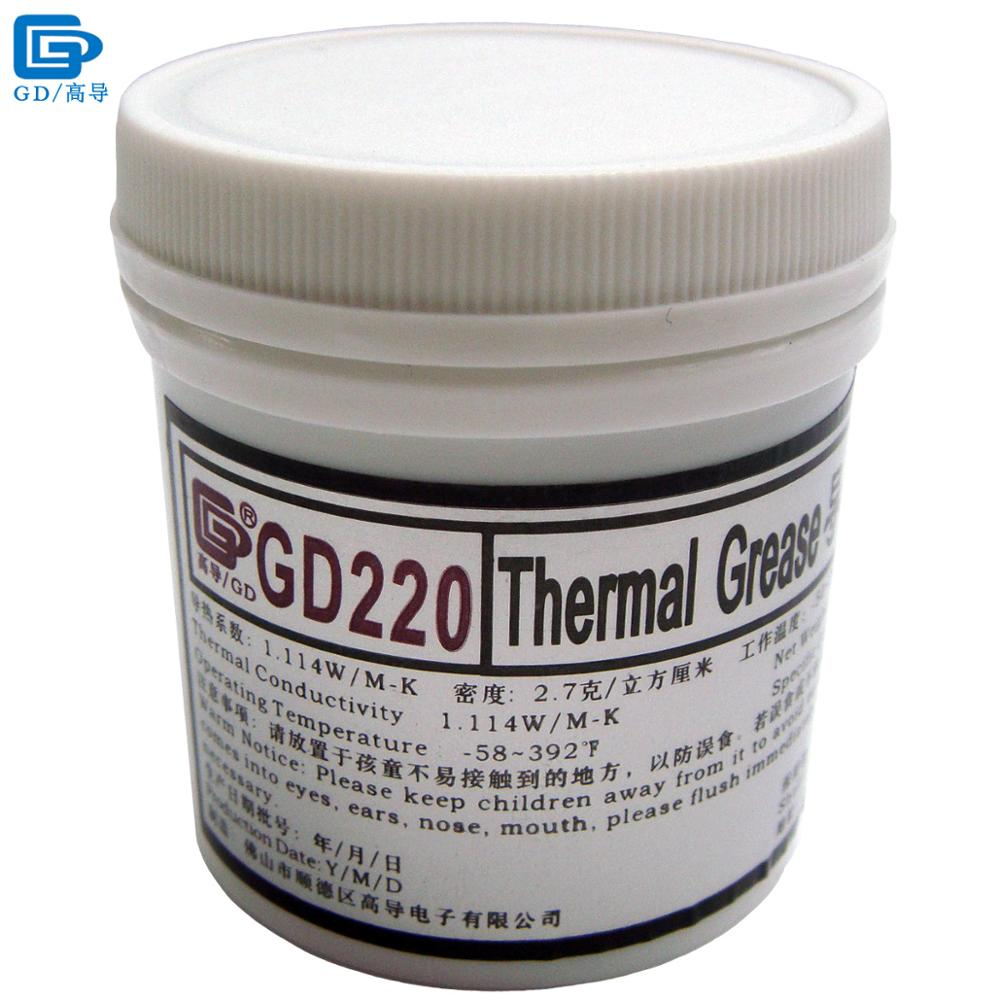 GD Brand Thermal Conductive Grease Paste Silicone Compound GD220 Heatsink Plaster Net Weight 150 Grams Gray For CPU Cooler CN150 gd brand thermal conductive grease paste silicone plaster gd460 heat sink compound net weight 1000 grams silver for led cn1000