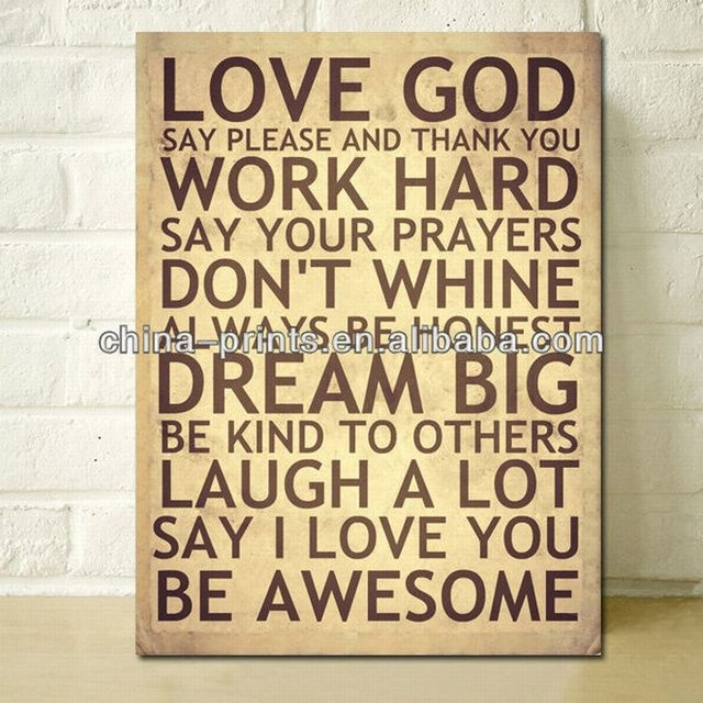 A2/A3 Digital Canvas Prints LOVE GOD word art prints modern Giclee ...