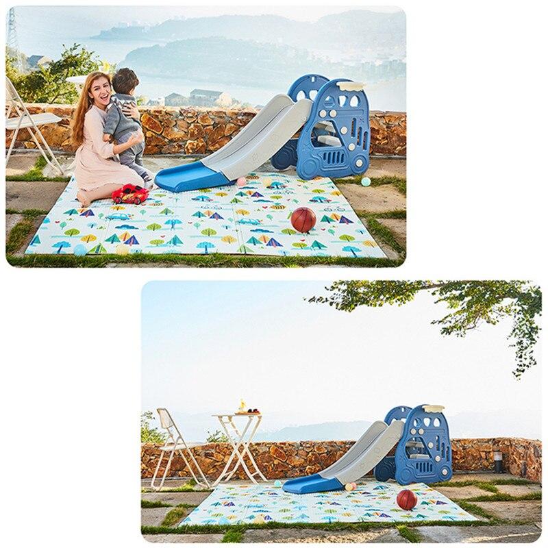 Infantile brillant enfants tapis de jeu pliant Puzzle tapis de jeu tapis de jeu pour les nourrissons 200*150*1 cm mousse ramper tapis Pack et jouer matelas 1 p - 5