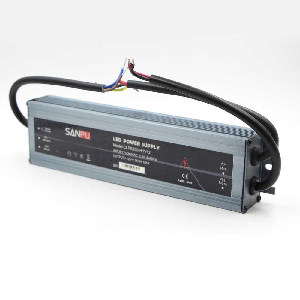 Ультра тонкий Водонепроницаемый IP67 питания со светодиодной полосой адаптер переменного тока DC 12 V 24 V 10 W 60 W 100 W 150 W 200 W 300 W СИД освещения трансформаторный источник питания