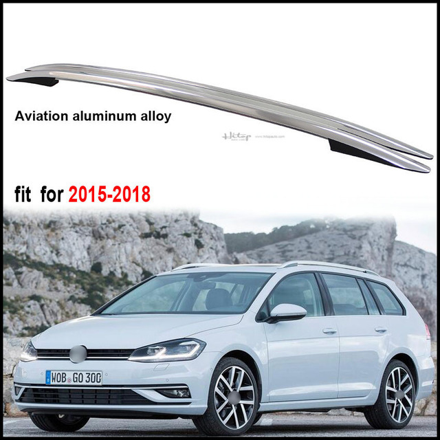 Car Roof Rack Roof Rail Bar For Volkswagen Golf 2015 2018.thick Aluminium  Alloy
