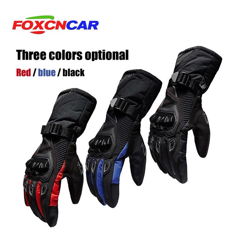 Foxcncar moto rcycle handschuhe 100% Wasserdicht winddicht Winter warm Guantes moto Luvas Touchscreen moto siklet Eldiveni Schutzhülle