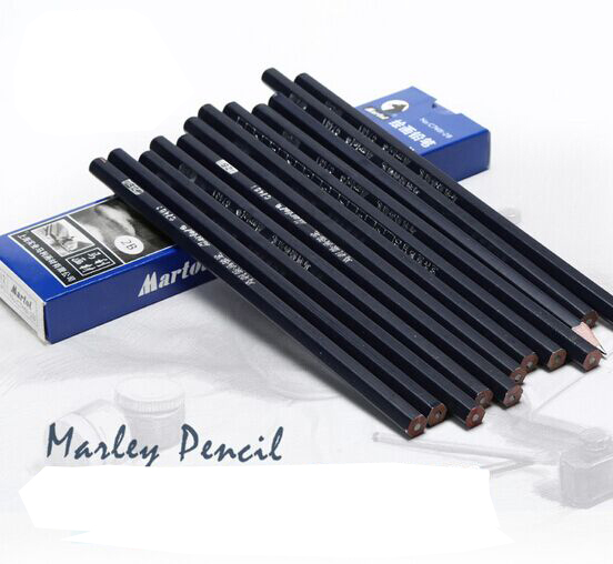 1pc real maries sketch drawing pencil mark wood blue professional