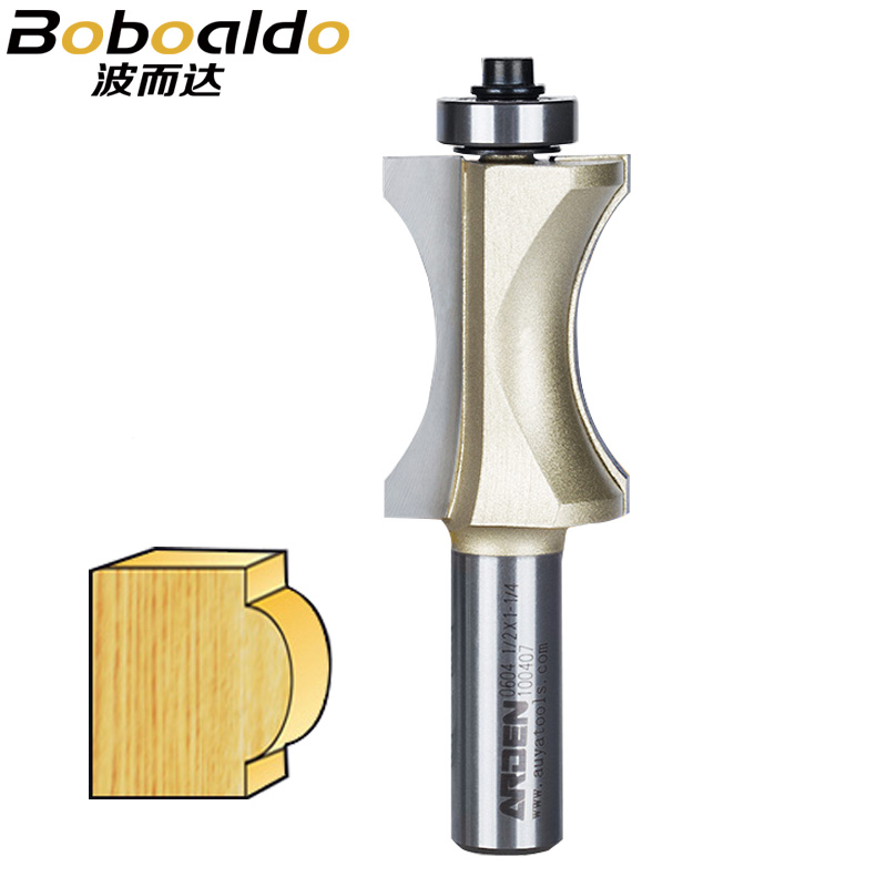 1/2 Shank Half Round bit Endmill Arden Router Bits for Wood Sunk Bead Bit With Bearing Woodworking Tool Milling Cutte