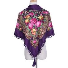 2018 neue Ankunft Winter Warme Russische Schal Wrap Frauen Druck 90*90 Platz Schals Baumwolle Muslimischen Kopftuch Mode Dekoration