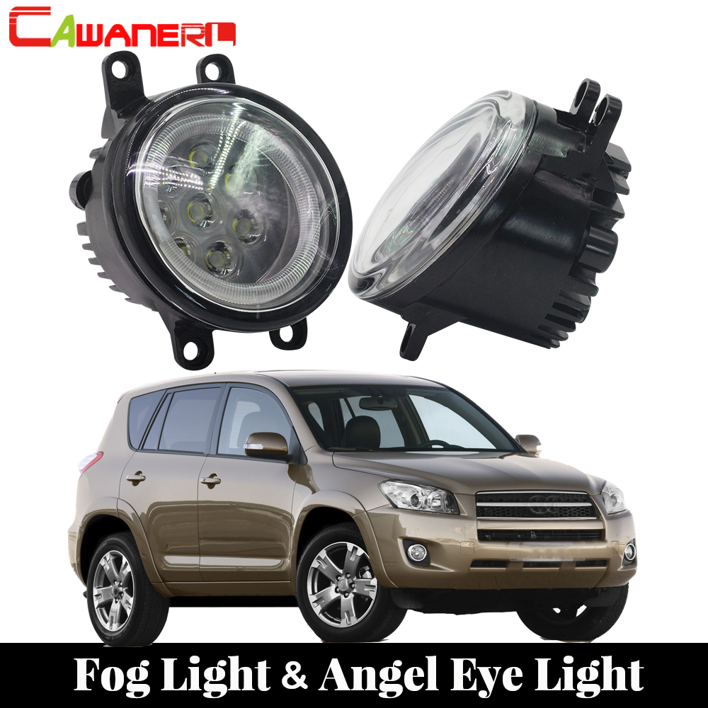 Cawanerl For Toyota RAV4 2006-2012 Car LED Lamp External Fog Light Angel Eye Daytime Running Light DRL Accessories 2 PiecesCawanerl For Toyota RAV4 2006-2012 Car LED Lamp External Fog Light Angel Eye Daytime Running Light DRL Accessories 2 Pieces