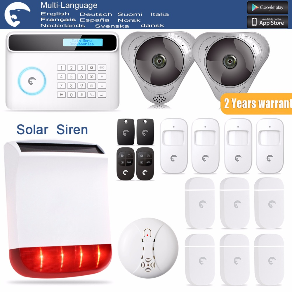 New Design  Etiger PSTN GSM  Burglar Security Home Smart Alarm S4 Security Alarm System with Ten Language menu etiger hot selling b11 dual network pstn and gsm burglar security alarm system 315