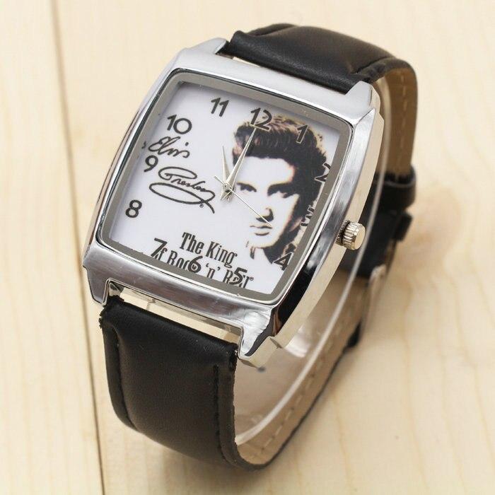 2017 Nuovo stile di Modo Ragazzi e ragazze Elvis Presley orologio regalo della vigilanza della cinghia