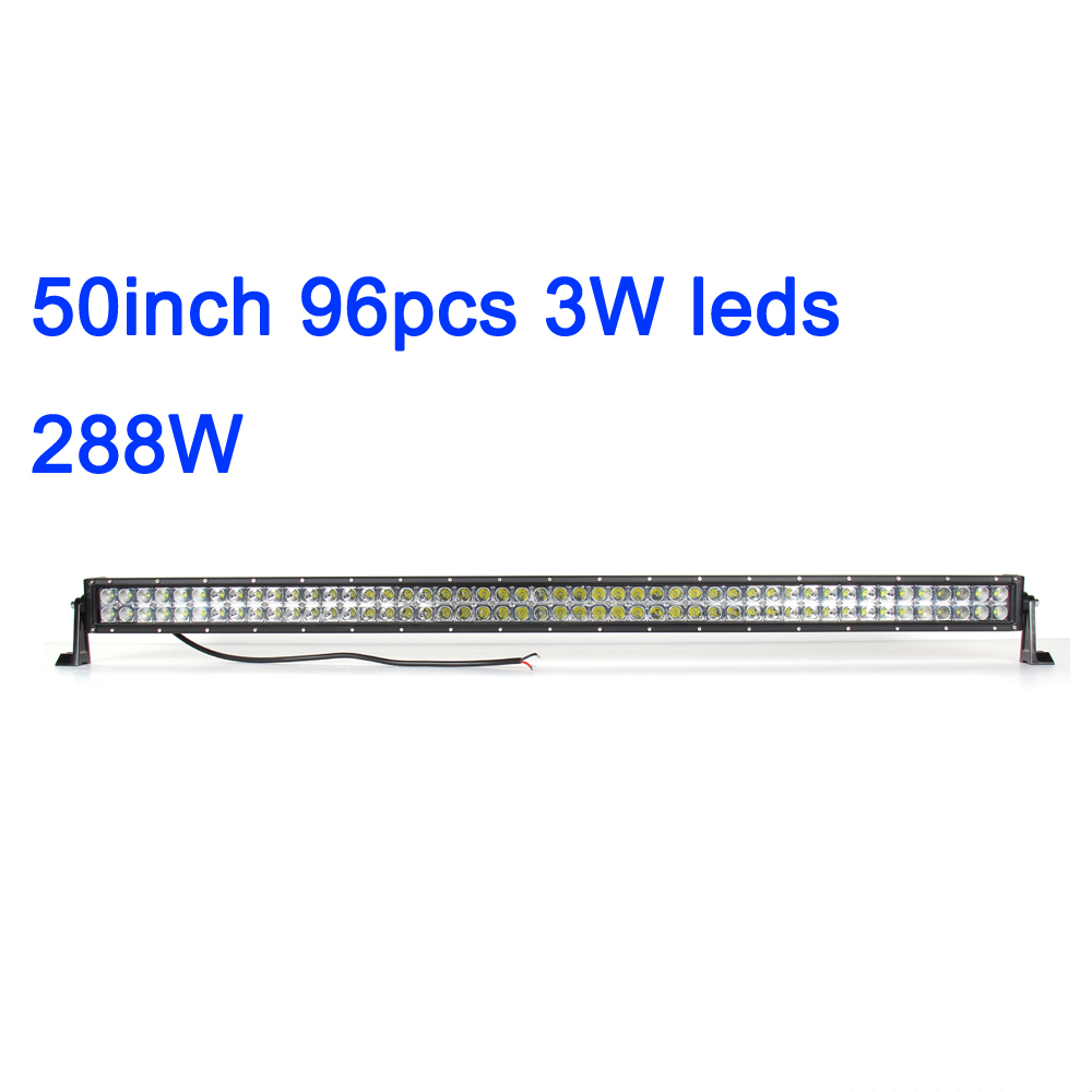 Ecahayaku 50 Inch Curved Led Light Bar Combo 288w Dual Row Driving Beam Off Road Car Styling For 4x4 Suv Atv 12v Jeep Boat Truck Automobiles & Motorcycles