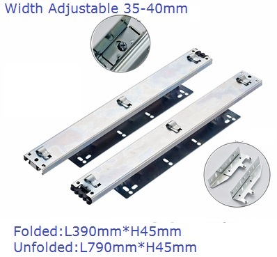 39CM Long Drawer Basket Slide Rail Wire Pull out Basket With Connecting Bracket for Drawer Front