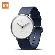Oryginalny Xiao mi mi jia mi inteligentny zegarek kwarcowy 3ATM wodoodporne podwójne tarcze alarm wibracyjny Sport krokomierz czujnik czas na świecie