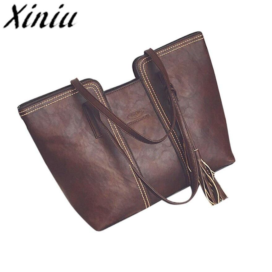 Xiniu Tassels Larger tote bags women shoulder Bag Satchel messenger woman shoulder New Arrival Women Handbag bag Drop shipping#S