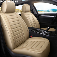 kokololee Auto Leather car seat cover For bmw e46 e36 e39 accessories e90 x5 e53 f11 e60 f30 x3 e83 covers for vehicle seats