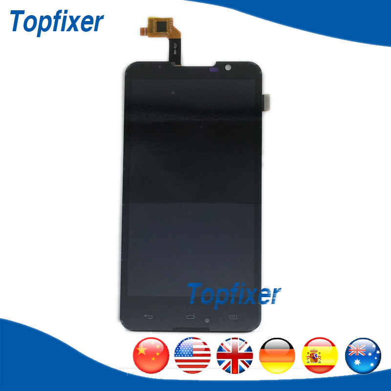 LCD Complete For Highscreen Alpha R LCD Screen Display And Touch Screen Digitizer Replacement Black Color 1PC/Lot