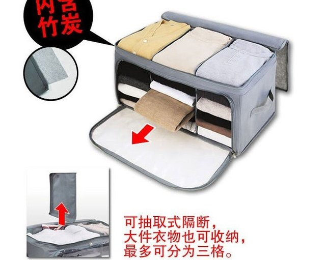 free shipping  Wholesale NEW Foldable Storage Box, Bamboo Fiber Non-woven fabric Clothing Bag, Home Storage Box