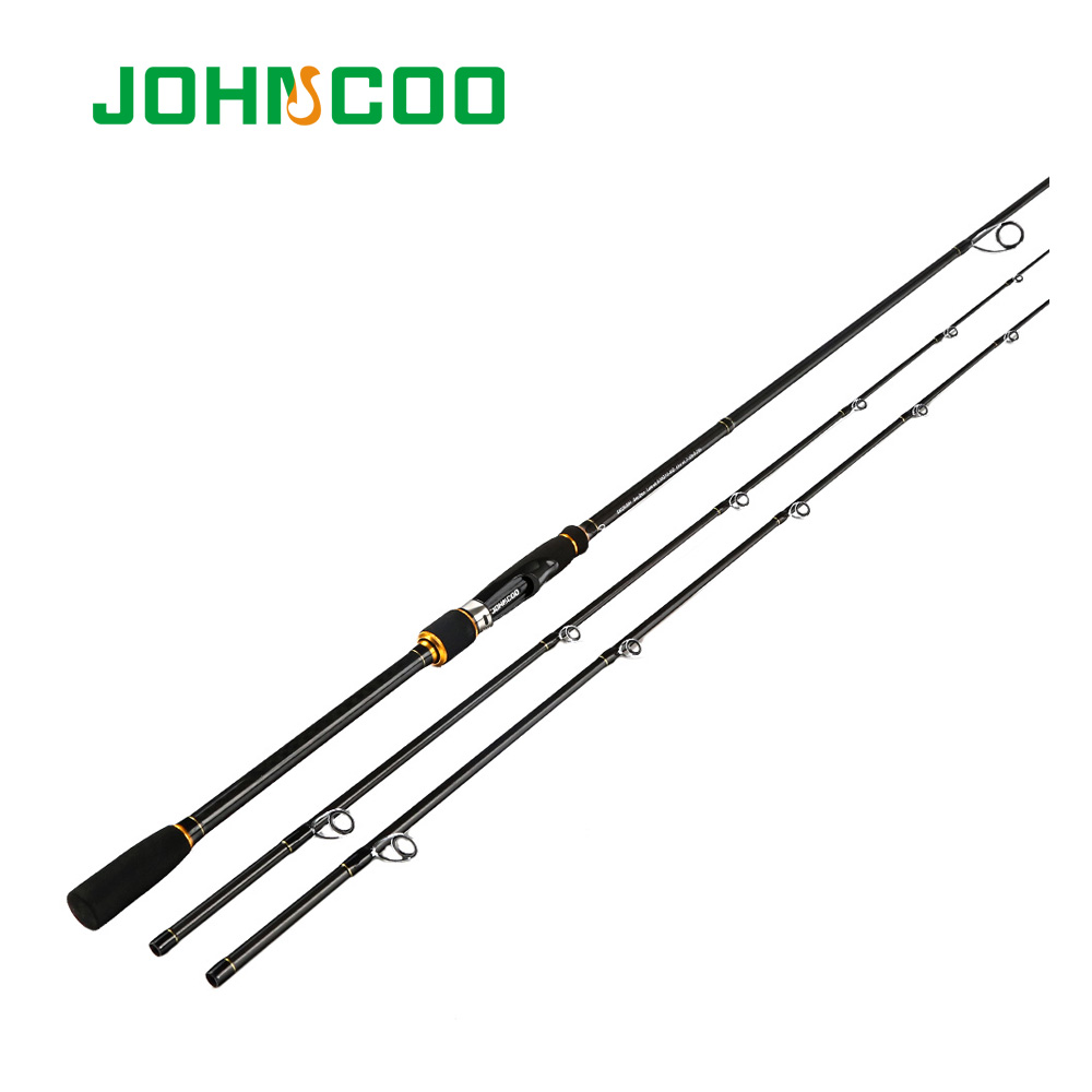 Carbon 2.4m Spinning Fishing rod Extra-Fast Action M MH 2 Tips Fishing pole Johncoo