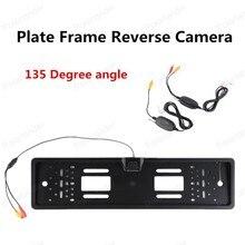 hot sell Wireless 135 Degree angle  Europe Car Backup Licence Plate Camera CMOS 1030 Image sensor