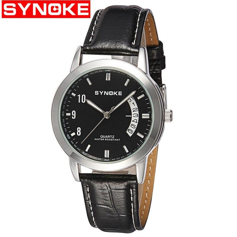 Fashion Quartz Wristwatch Calendar 30M Waterproof Watches Women PU Leather Ladies Clock Black Coffee