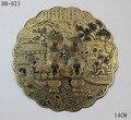 140 mm estilo chinês mobiliário antigo de bronze rodada acessórios de cobre puro maçaneta da porta do armário puxar maçaneta da porta de bloqueio DB-023