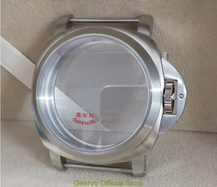 Sapphire crystal 44mm High quality 316L Stainless steel 111 watch cases fit ETA 6497 6498 Mechanical